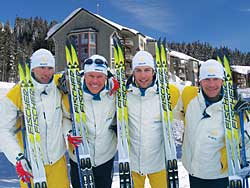 Members of the Swedish Cross Country Ski Team will be getting ready for Whistler on Mount Washington