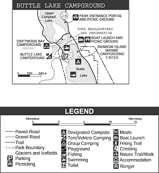 Buttle Lake Area map