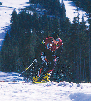 Nordic Skier on Mount Washington, Vancouver Island, BC, 2004