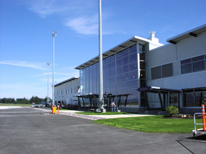 the new Comox Valley International Airport