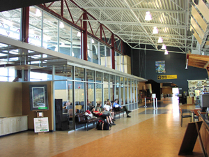 Comox Valley International Airport - the spacious, sunlit interior makes the Comox Valley Airport a Welcoming first impression.