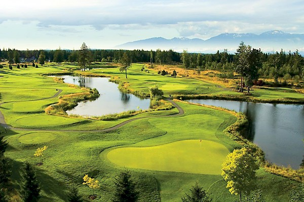 The comox Valley is home to 3 - 18 hole golf courses including Crown Isle (above).