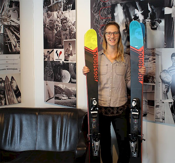 The Rossignol Centre is home to demo skis and boards and a service and repair shop.