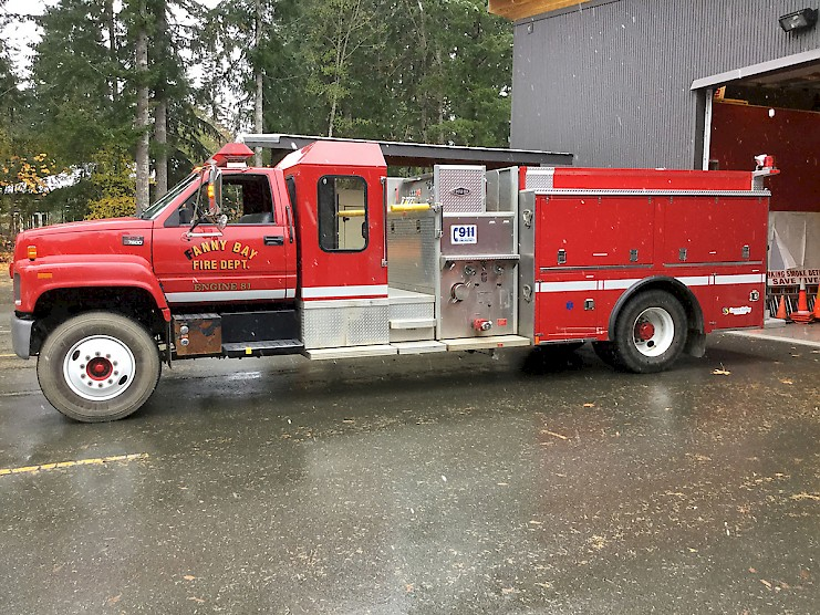 Mount Washington Fire Service purchased their truck from the Fanny Bay Fire Dept.
