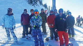 The First Nations Snowboard Team represents kids from across BC.