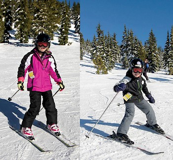 10 year old twin Megan and Connor Wells LOVE skiing with VISAS.